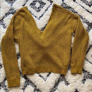 Forever 21 twist open back sweater